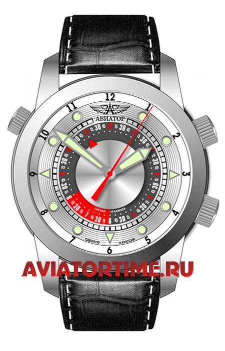 Мужские российские наручные часы с будильником полет авиатор 2612