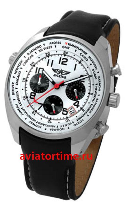 Российские часы Авиатор AVW5839G4 - кварцевый хронограф