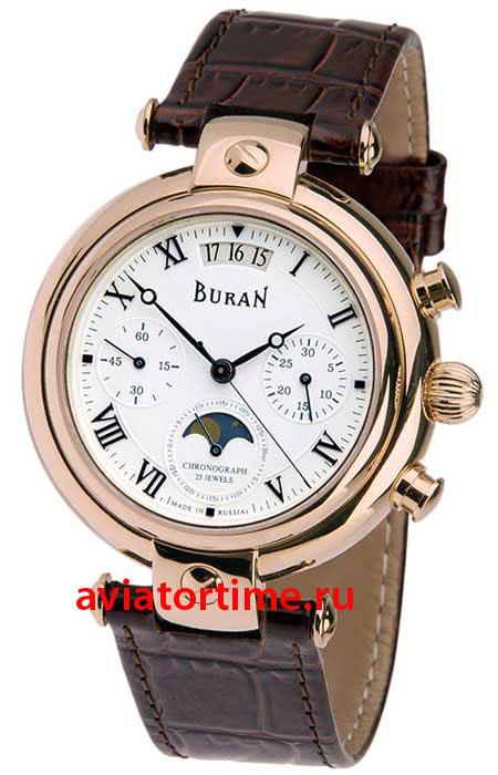 Российские часы буран 31679/2109104 мужские механические часы