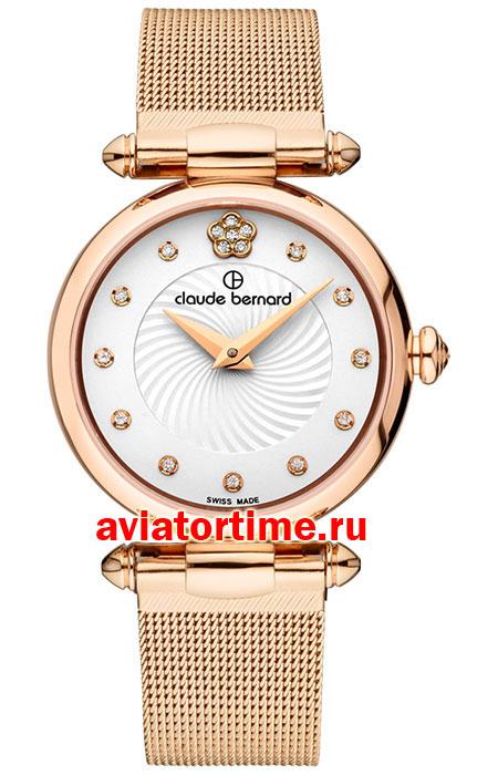 Женские часы Claude Bernard 20500-37RAPR2 Мужские часы Oris 733-7594-43-34MB