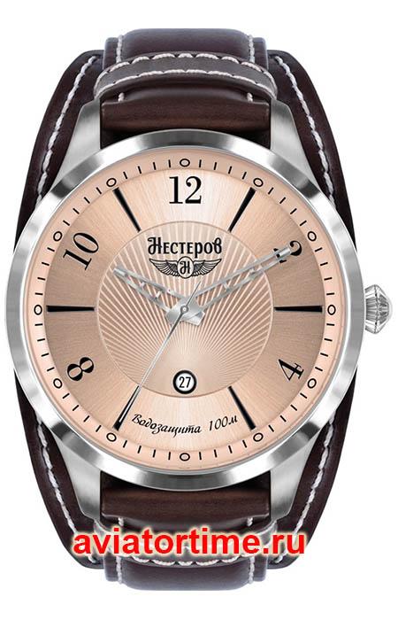 e3e73995 Мужские Российские наручные часы НЕСТЕРОВ H0983B02-14D Истребитель И-190