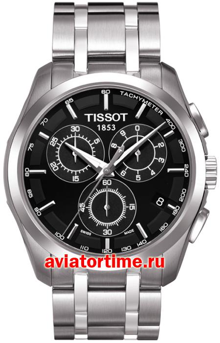 часы tissot couturier chronograph изображение лица