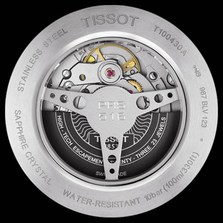 Задняя крышка Tissot T100.430... Механизм. TISSOT T-SPORT PRS 516  POWERMATIC 80 86148389465