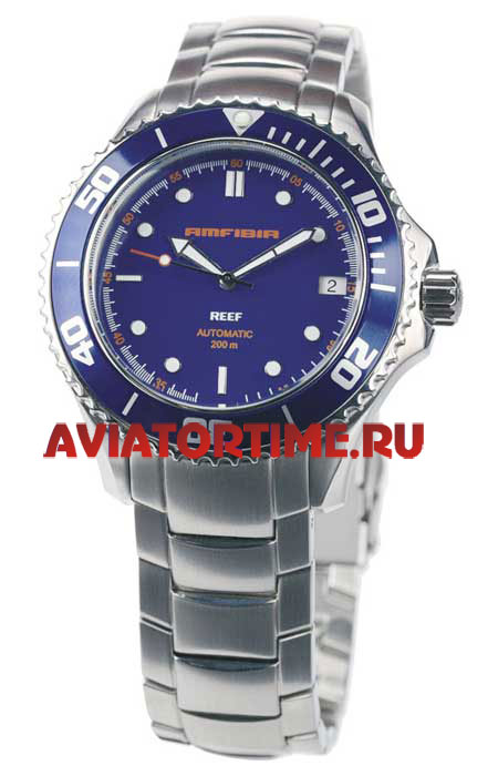 Мужские наручные часы восток амфибия 2416b-080502-reef-blue (голубой ... 2d0b8735406